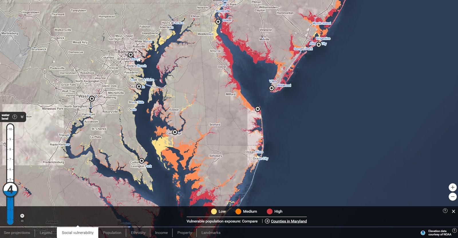 Surging Seas: Risk Zone map