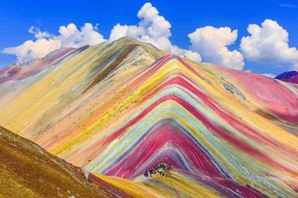 9. Walk to the top of the famous Rainbow Mountain in Peru