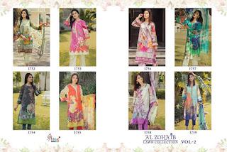 Shree Fab Al Zohaib Lawn Collection vol 2 Pakistani suits catalog