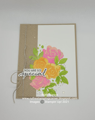 stampin' up, brushed blooms