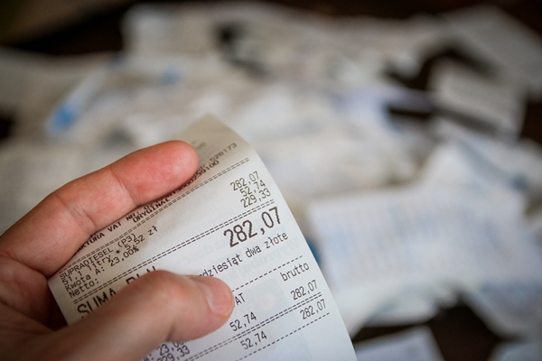 oszczędzanie na jedzeniu, paragon, zakupy, planowanie, oszczędzanie