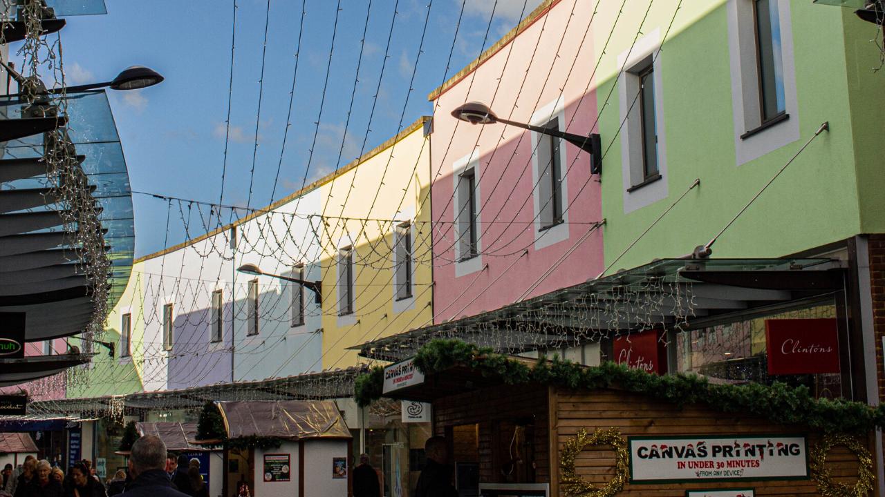 Pastel buildings Maidstone Kent