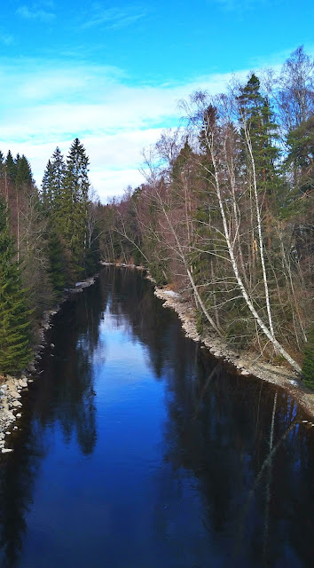 Calm river in Finland