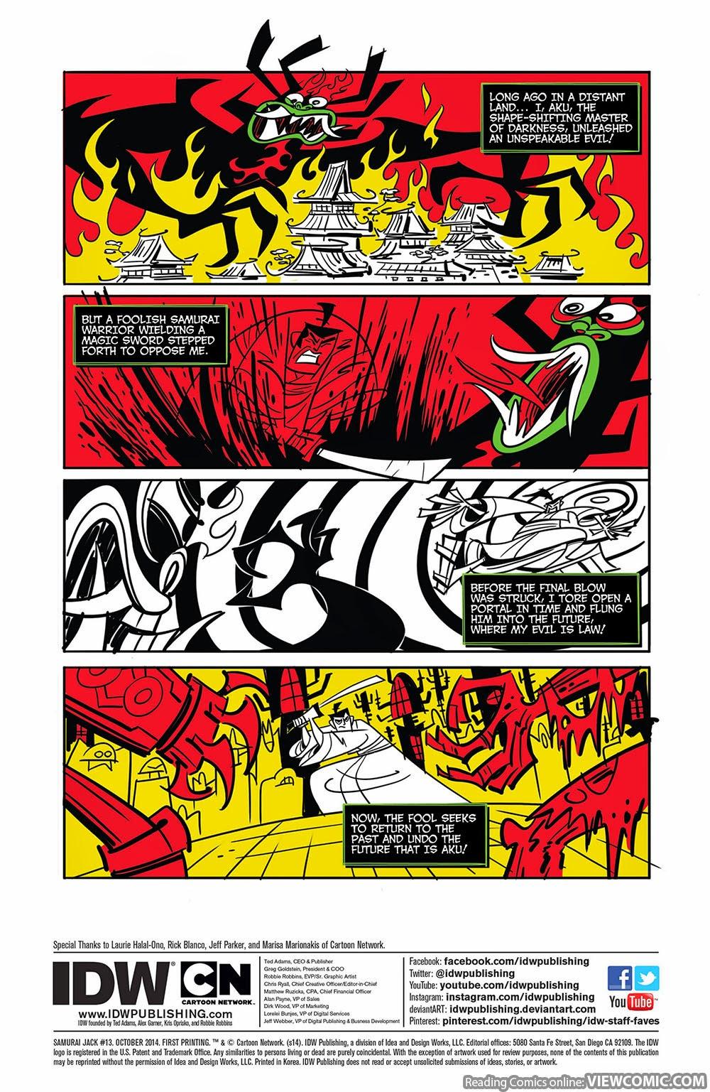 Samurai Jack 013 (2014) ………………………   | Viewcomic reading comics