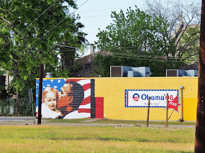 High-res photo of Obama Mural in Midtown - Obama '08 & 2012