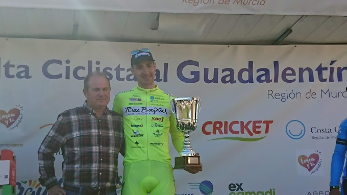 Mauricio Moreira (Vigo - Rías Baixas) remató segundo en la Vuelta al Guadalentín