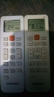 merubah setting suhu remote ac samsung