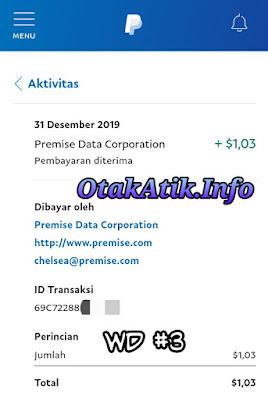 Update bukti pembayaran terbaru pada 31 Desember 2019