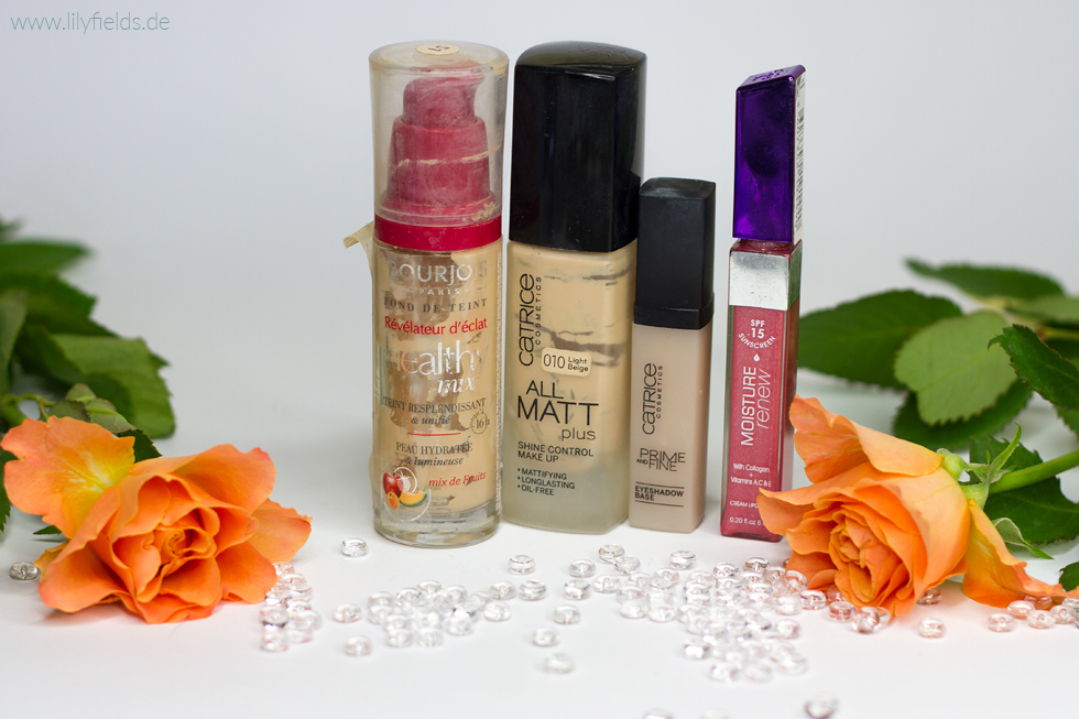 Foto mit  Bourjois Healthy Mix Foundation, Catrice All Matt Plus, Prime and Fine