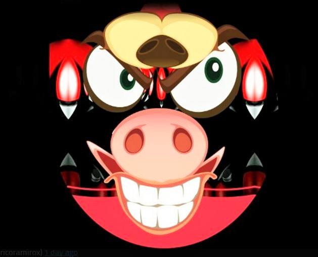 Pig Nosed Abstract Monster