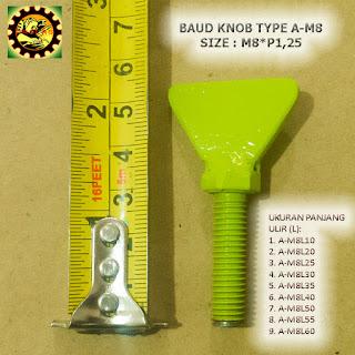 Contoh Baut Knob Plate Besi  Type A-M8xP1,25