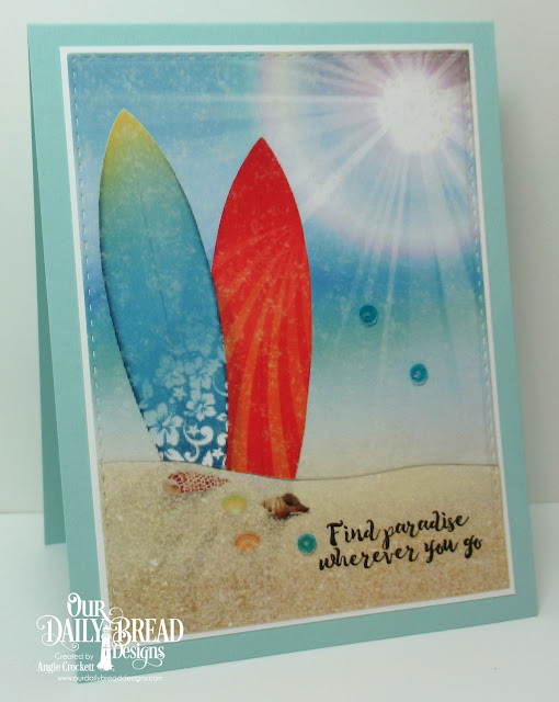 ODBD Aloha, ODBD Custom Double Stitched Rectangles Dies, ODBD By The Shore Paper Collection, Card Designer Angie Crockett