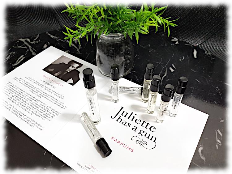 Juliette Has a Gun Fragrance Vials & brochure