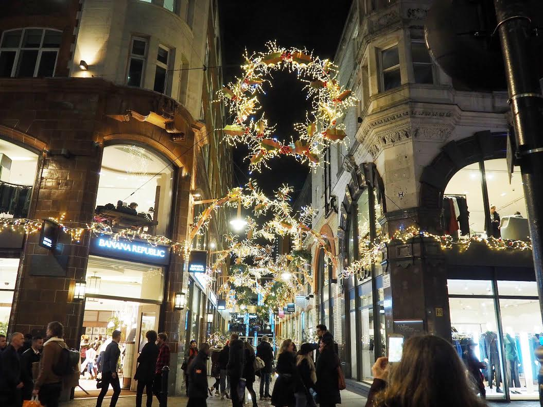 Covent Garden Christmas lights in London