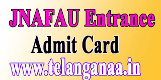 JNAFAU Entrance Examination Admit Card 2016 Download