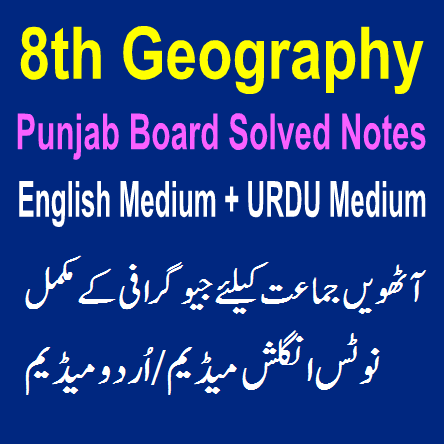Easy Notes Punjab Board For Eighth class English URDU Medium Punjab Federal Board in PDF