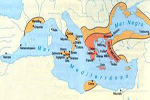 Mapa de las antiguas polis griegas por todo el Mediterráneo