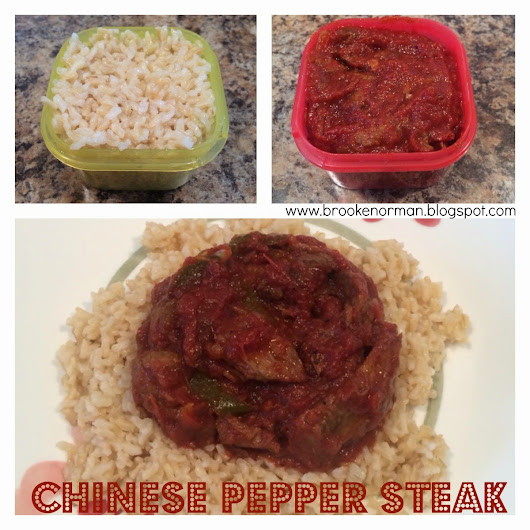 Chinese Pepper Steak ( 21 DAY FIX approved )