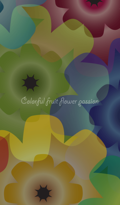 Colorful fruit flower passion