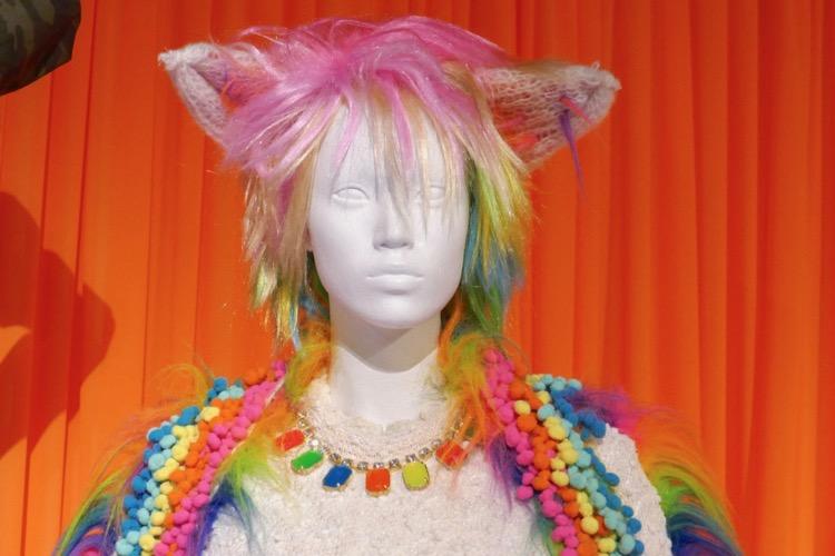 Crazy Ex-Girlfriend rainbow Cat costume necklace