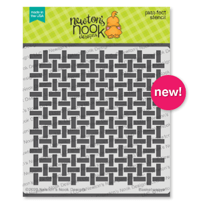 Basketweave Stencil by Newton's Nook Designs #newtonsnook