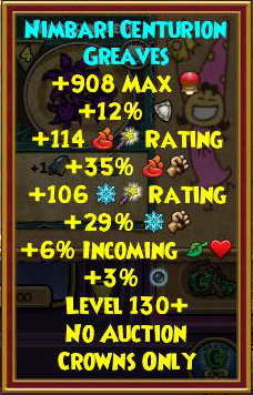 Wizard101 Best Level 130+ Gear