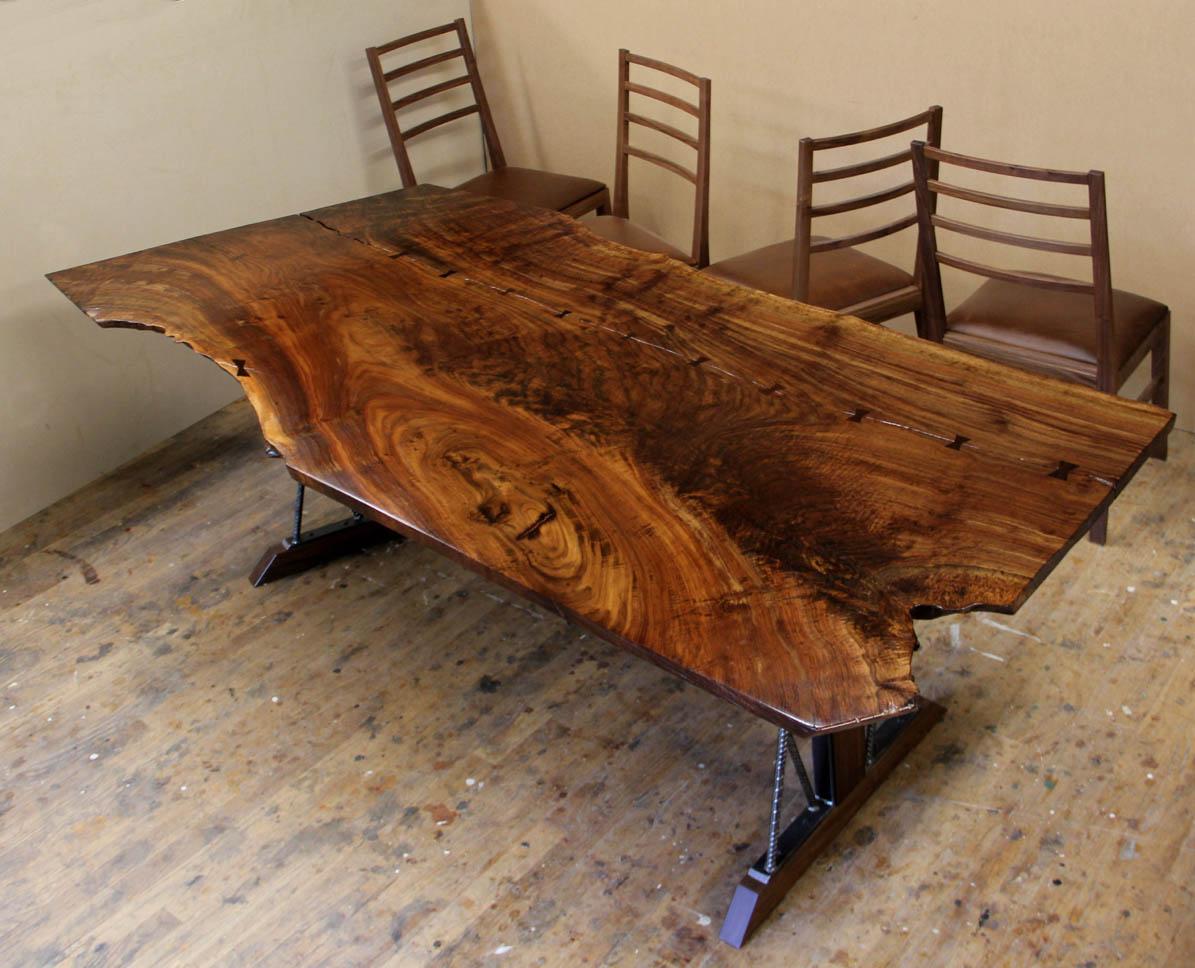 Steel Chair In Slab La Z Boy Lift Dorset Custom Furniture A Woodworkers Photo Journal