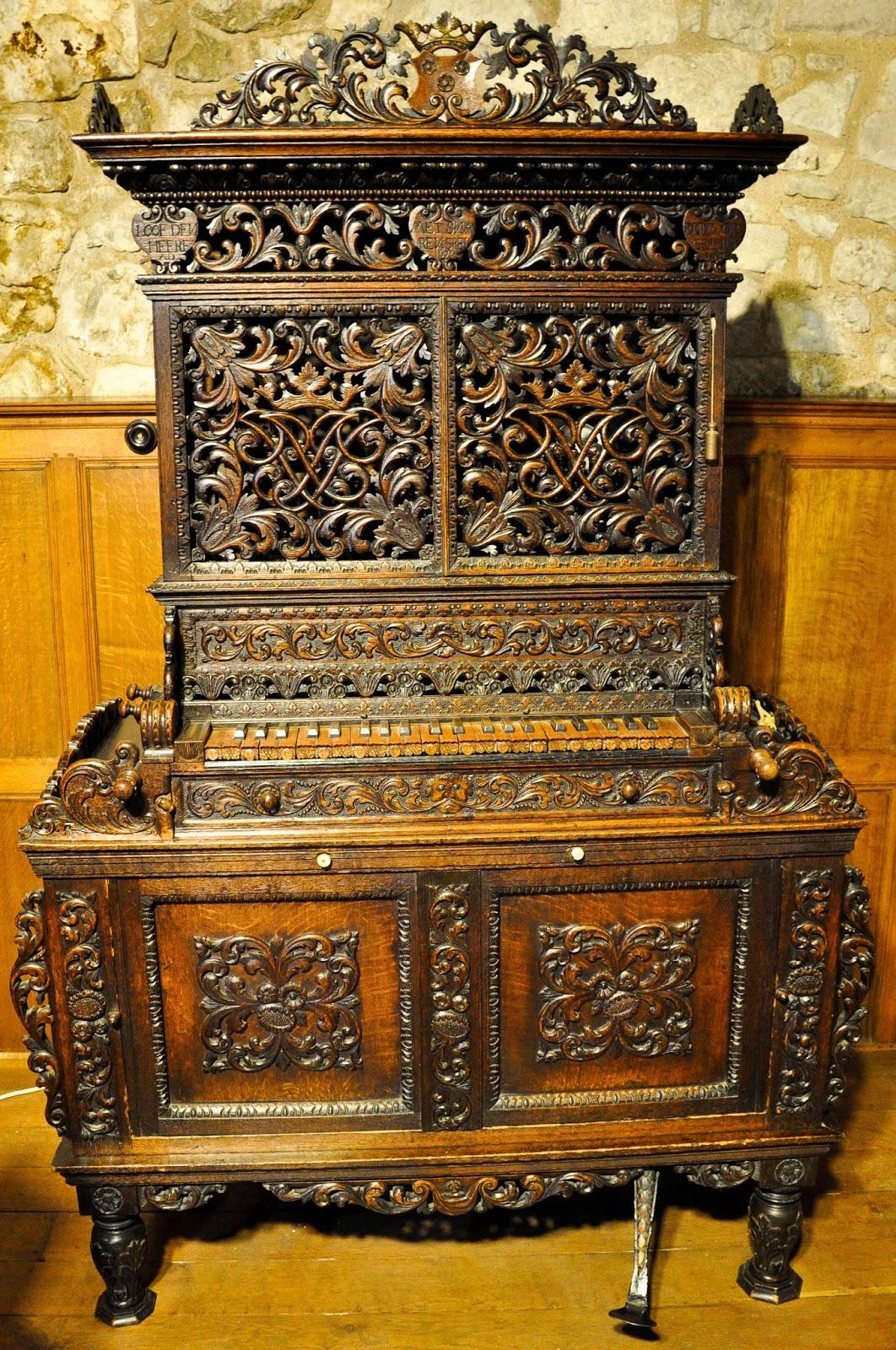 The chamber organ, Carisbrook Castle, Isle of Wight, UK