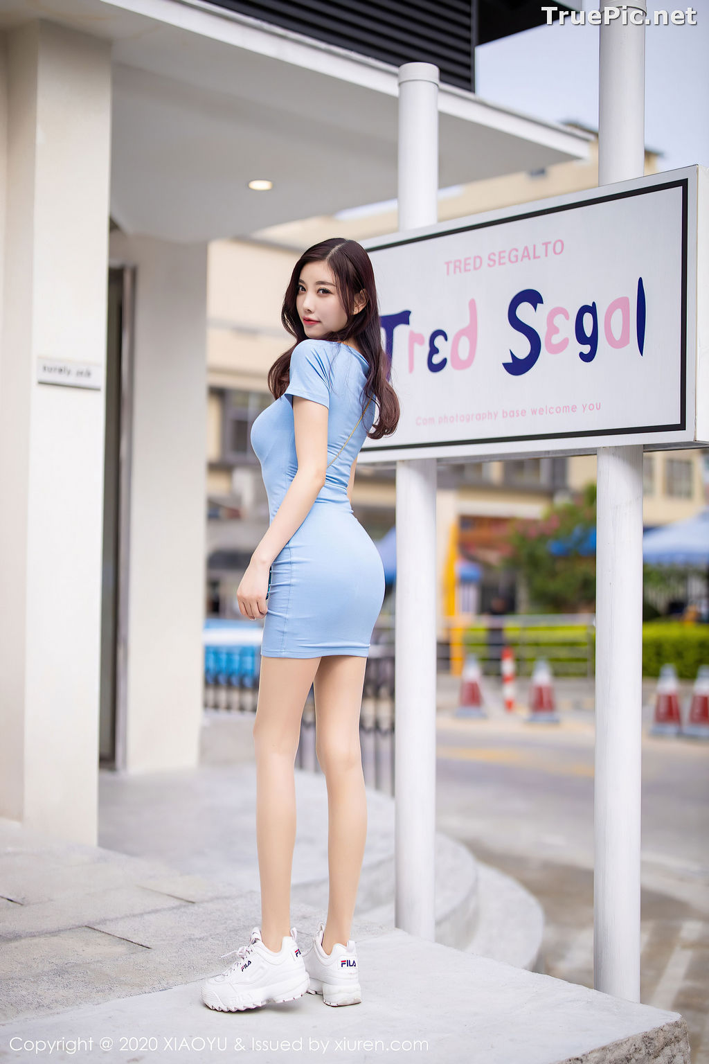 Image XiaoYu Vol.317 - Chinese Model - Yang Chen Chen (杨晨晨sugar) - Walking Street with Bodycon Dress - TruePic.net - Picture-9