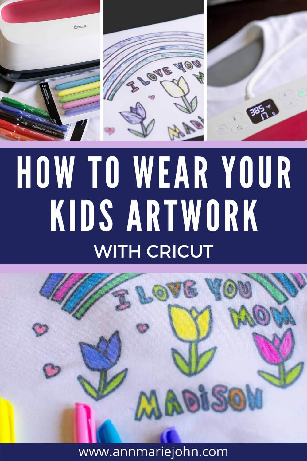How to Wear Kids Artwork with Cricut