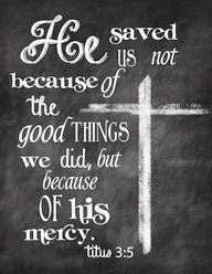 He was merciful unto us
