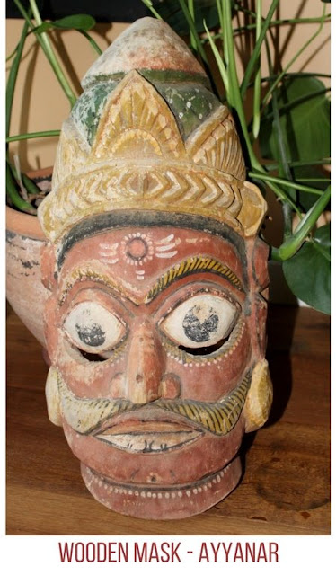 Ayyanaar wooden mask