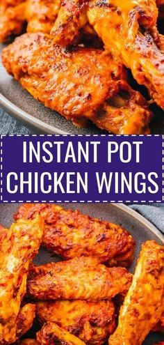 These Instant Pot Chicken Wings can be enjoyed with your favorite wing sauce, like a spicy buffalo hot sauce or a BBQ sauce.