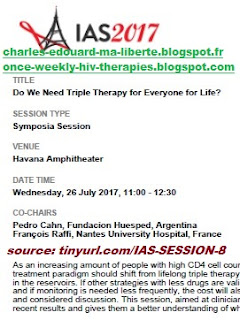 IAS 2017 ANRS allègements international AIDS society Paris Durban poster ANRS-4D