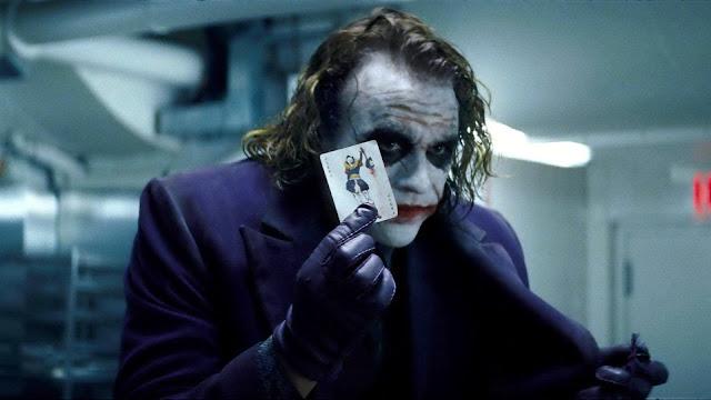 Heath Ledger as The Joker on The Dark Knight Trology