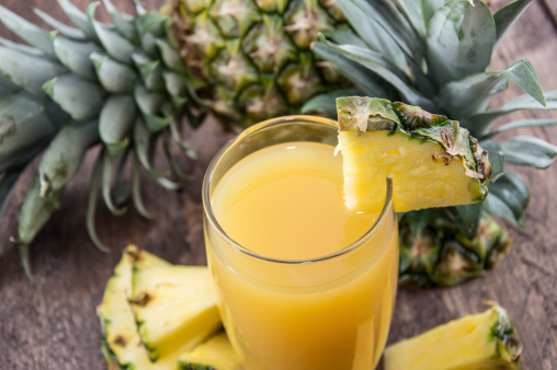 Pineapple juice recipe at home
