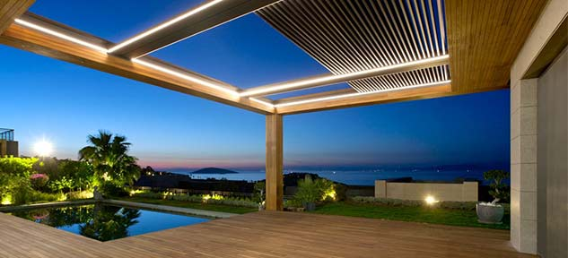 Enlarge your living space with a retractable roof