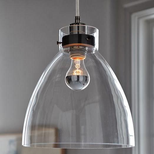 Seahorse & Stripes: Modern Glass Kitchen Island Pendants