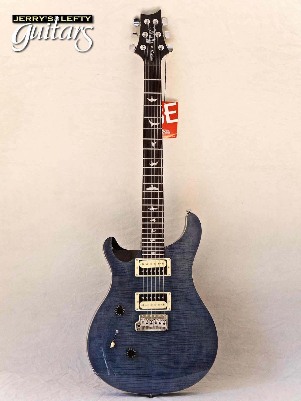 jerry 39 s lefty guitars newest guitar arrivals updated weekly prs se custom 24 whale blue 908. Black Bedroom Furniture Sets. Home Design Ideas