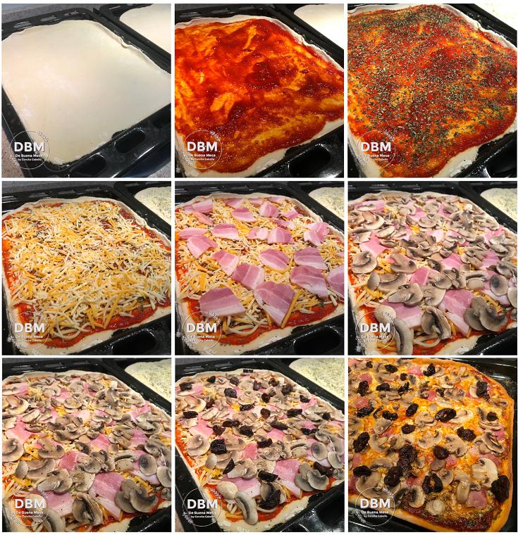 pizza-champiñones-pasos