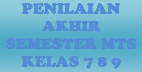Soal Uas Qur An Hadits Qurdis Mts Kelas 7 8 9 Semester