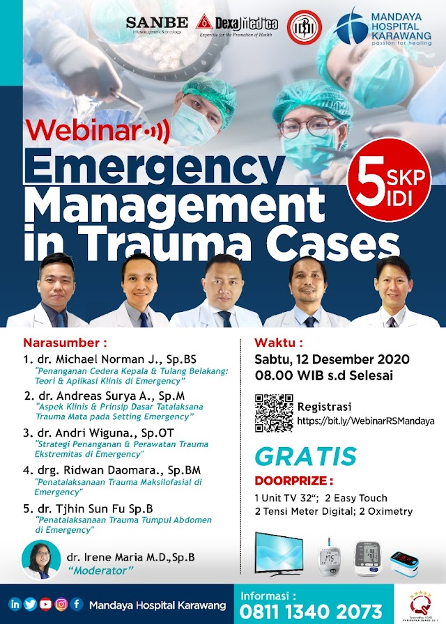 *Webinar ber-SKP IDI*     *Emergency Management in Trauma Cases*