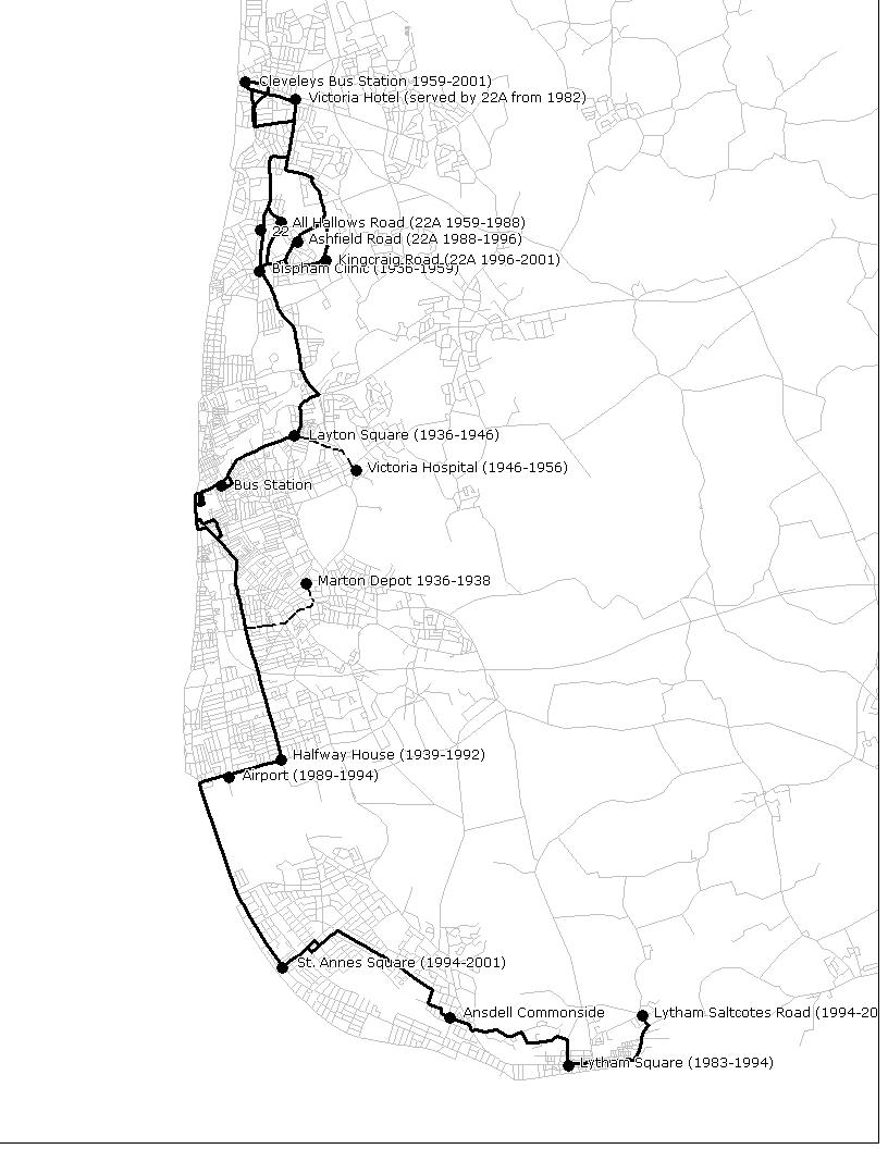 Fylde Bus Blog Lost Routes The 22