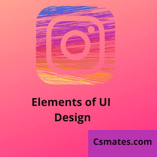 Elements of user interface UI
