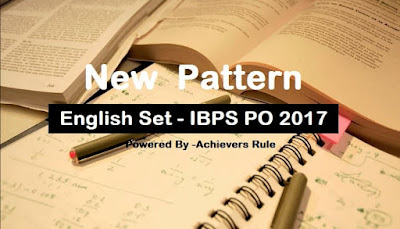 New Pattern English For IBPS PO Exams