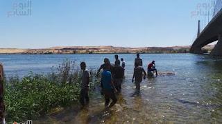 """غرق سته اشخاص خلال شهر اسفل كوبرى اسوان الجديد  وانباء عن وجود قبيلة من """"الجن"""" تعيش تحت الماء"""