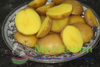 Prepare a quick diet of boiled potatoes