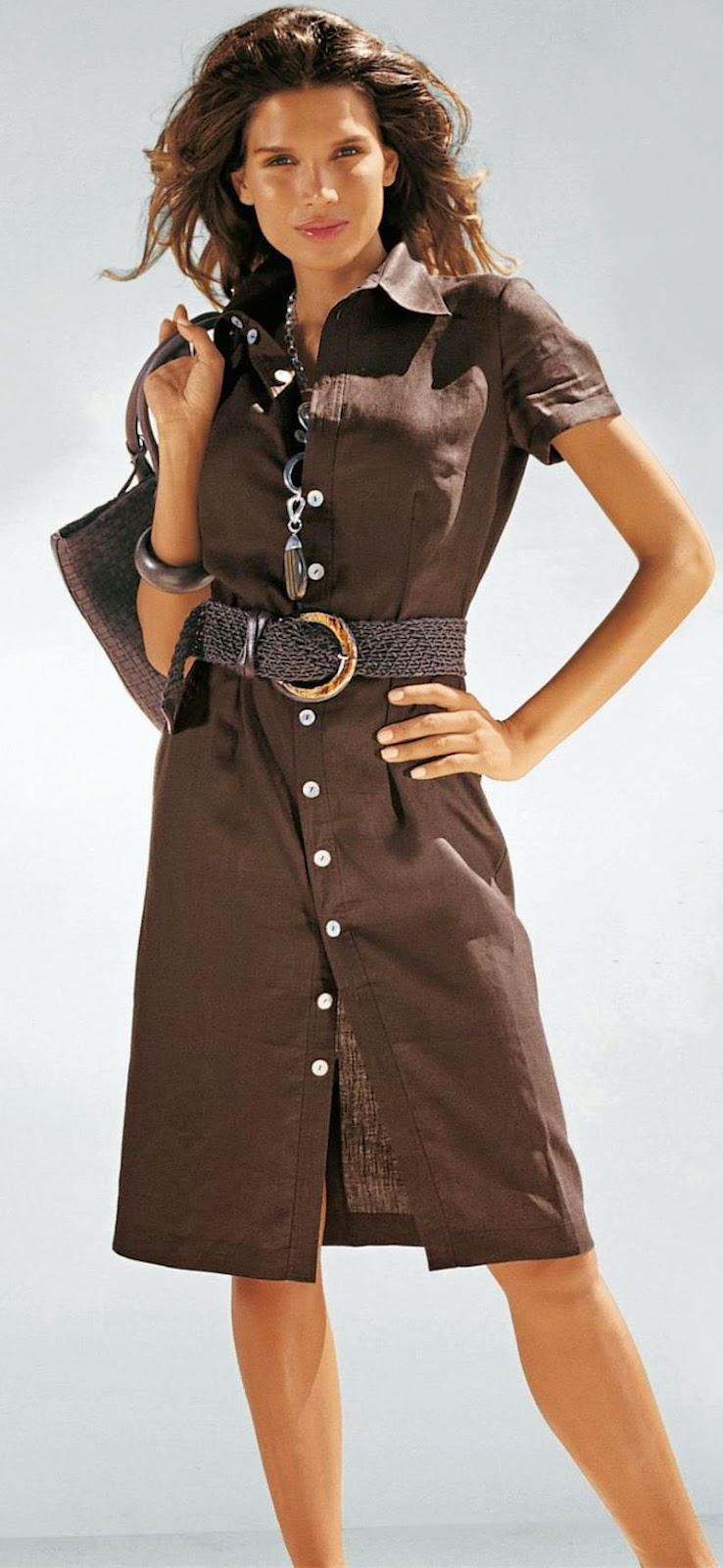 MADELEINE BROWN SHIRT DRESS
