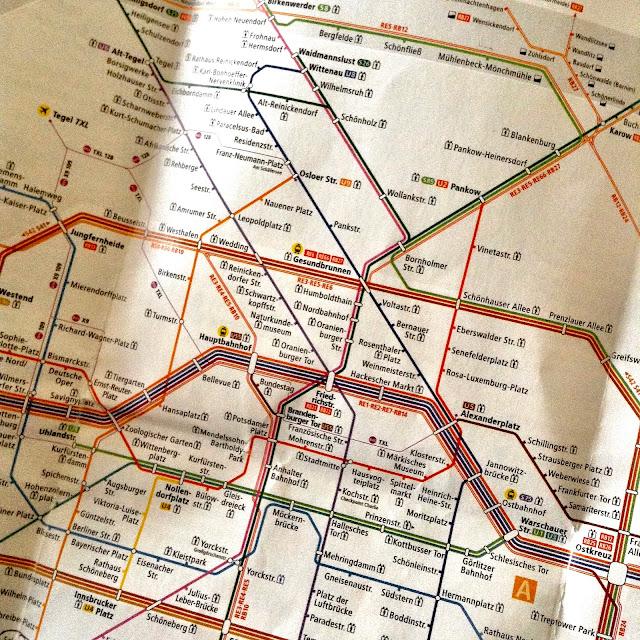 Mapa S-Bahn Berlín