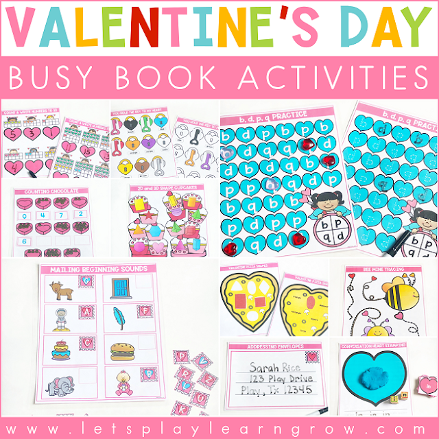 Valentine's Day Busy Book Activities
